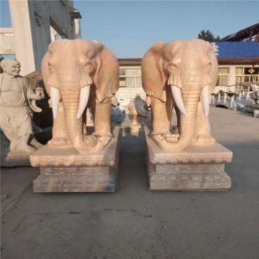 加工销售小区门口装饰石雕大象
