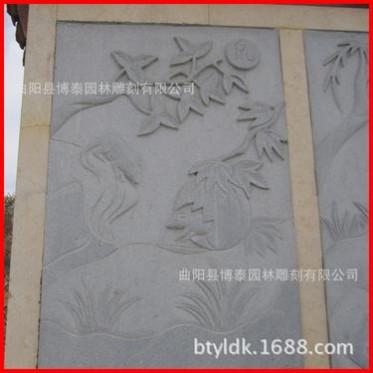 石雕天然青石大理石十二生肖浮雕 牛动物影雕工艺品 装饰摆件