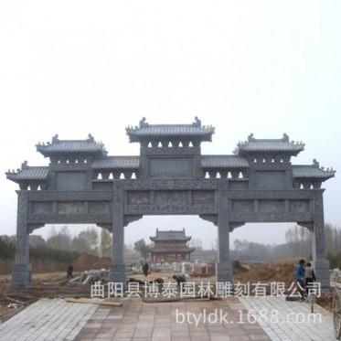 曲阳石雕专业生产大理石牌坊牌楼 石牌坊 古建筑门楼摆件