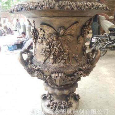 供应玻璃钢花盆 砂岩花盆 铸铜花盆 盆景花盆