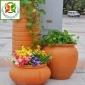 特价新品红泥土粗陶罐组合花盆庭院阳台花园景观欧式田园景观小品